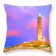 Light House Onthatcher Island Throw Pillow