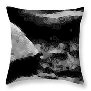 Light In The Stream Bw Throw Pillow