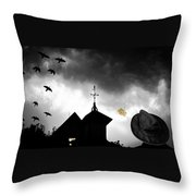 Light In The Window Throw Pillow by Bob Orsillo
