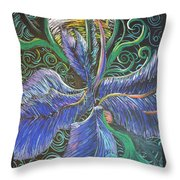 Light Into The Bloom Throw Pillow