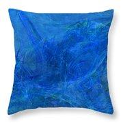 Light It Up Blue Throw Pillow