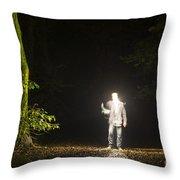 Light Man Throw Pillow