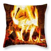 Light My Fire I Throw Pillow