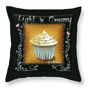 Light 'n Creamy Throw Pillow