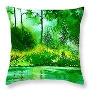 Light N Greens R Throw Pillow