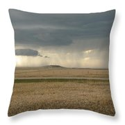 Light Near The End Of The Storm Throw Pillow