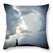 Light Of Liberty Throw Pillow