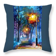 Light Of Luck - Palette Knife Oil Painting On Canvas By Leonid Afremov Throw Pillow