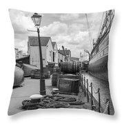 Light Of The Dock Throw Pillow