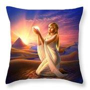 Light Of The Sands Throw Pillow