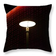 Light On At The Museum Throw Pillow