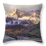Light On Maroon Bells Throw Pillow