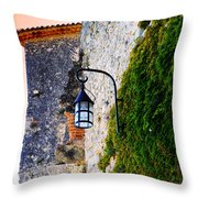 Light On Old Wall Throw Pillow