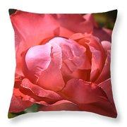 Light On Rose Throw Pillow