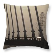 Light On The Bridge Throw Pillow