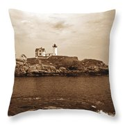 Light On The Nubble Throw Pillow by Skip Willits