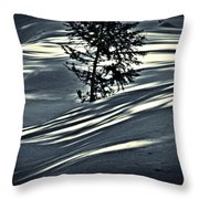 Light On The Snow Throw Pillow