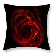 Light Painting 2 Throw Pillow