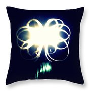 Light Painting Flower Throw Pillow