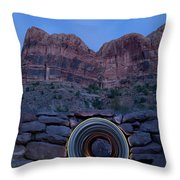 Light Painting Inside A Round Tunnel Throw Pillow