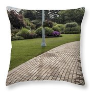 Light Post And Walkway At Michigan State University Throw Pillow