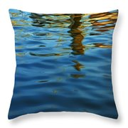 Light Reflections On The Water By A Dock At Aransas Pass Throw Pillow