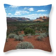 Light Shines On Cathedral Rock Throw Pillow