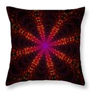 Light Show Abstract 4 Throw Pillow