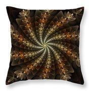 Light Spiral Throw Pillow