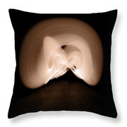 Light Swirl Throw Pillow