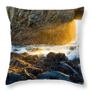 Light The Way - Arch Rock In Pfeiffer Beach In Big Sur. Throw Pillow by Jamie Pham