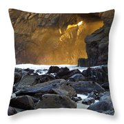 Light Through The Keyhole Arch Throw Pillow