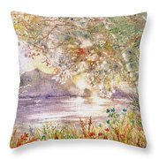 Light Through The Pass Throw Pillow by Marilyn Smith