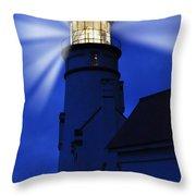 Light Up The Sea Throw Pillow