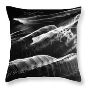 Light Waves Throw Pillow