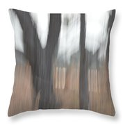 Light Within The Trees Throw Pillow