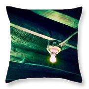 Lightbulb And Cobwebs Throw Pillow