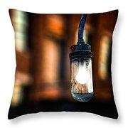 Lightbulb Bates Mill #5 Throw Pillow
