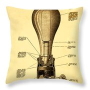 Lightbulb Patent Throw Pillow by Digital Reproductions