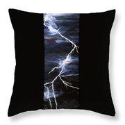 Lightening Bolt Painting Fine Art Print Throw Pillow