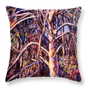 Lightening Struck Tree Throw Pillow