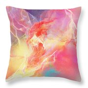 Lighthearted - Abstract Art Throw Pillow