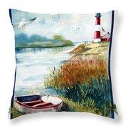 Lighthouse 1 Throw Pillow
