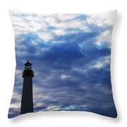 Lighthouse At Cape May Nj Throw Pillow