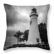 Lighthouse At Marblehead Throw Pillow