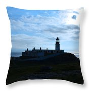 Lighthouse At Neist Point Throw Pillow