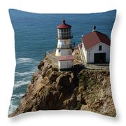 Lighthouse At Point Reyes Throw Pillow