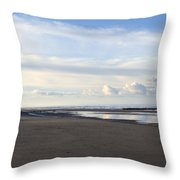 Lighthouse At Talacre Throw Pillow
