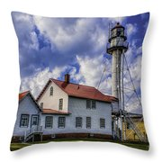 Lighthouse At Whitefish Point Throw Pillow