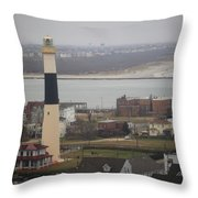 Lighthouse - Atlantic City Throw Pillow